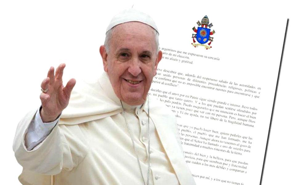 Carta de Francisco a los argentinos: