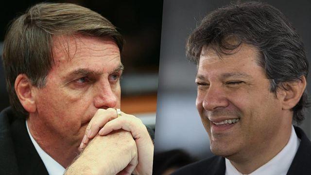 Bolsonaro y Haddad empatan en una eventual segunda vuelta
